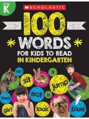 "100 Words For Kids To Read In Kindergarten <span class=""author"" >Scholastic</span>"