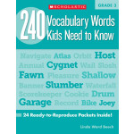 "240 Vocabulary Words Kids Need To Know Grade 3 <span class=""author"" >Linda Ward Beech</span>"