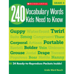 "240 Vocabulary Words Kids Need To Know Grade 4 <span class=""author"" >Linda Ward Beech</span>"
