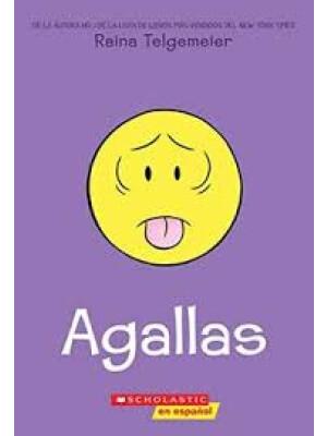 """Agallas <span class=""""author"""" >Raina Telgemeier</span>"""