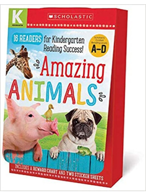 """Amazing Animals A-D Kindergarten Box Set: Scholastic Early Learners (Guided Reader) <span class=""""author"""" >Scholastic</span>"""