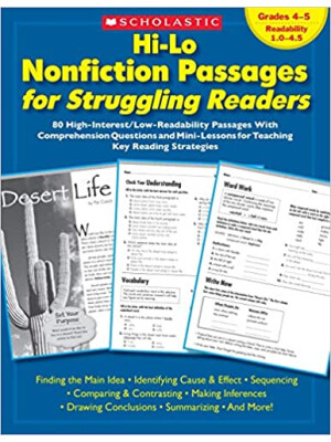 """Hi-Lo Nonfiction Passages for Struggling Readers: Grades 4?5 <span class=""""author"""" >Maria Chang, Schola, Scholastic Teaching Resources</span>"""