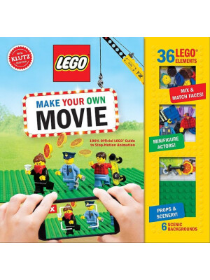 """Klutz: LEGO Make Your Own Movie: 100% Official LEGO Guide to Stop-Motion Animation <span class=""""author"""" >Editors of Klutz</span>"""