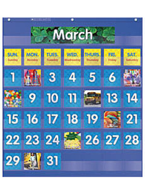 "Monthly Calendar Pocket Chart <span class=""author"" ></span>"