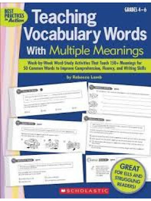 """Teaching Vocabulary Words With Multiple Meanings (Grades 4-6) <span class=""""author"""" >Rebecca Lamb</span>"""
